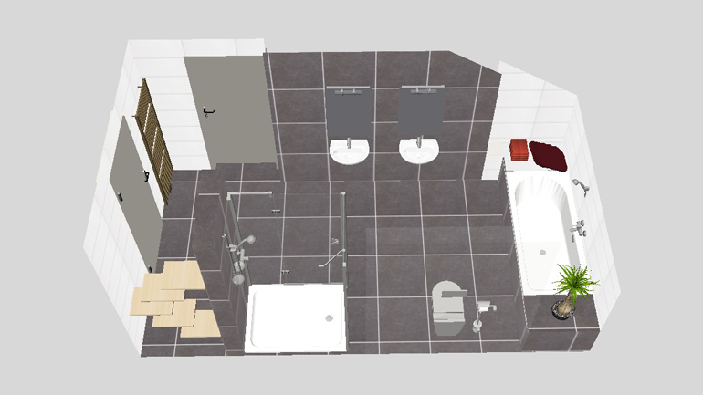 3D Badplanung Familienbad