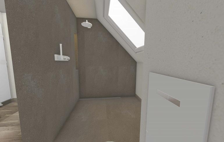 Die 3D- Badplanung der Duschbereich