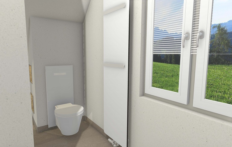 Die 3D- Badplanung WC- Bereich