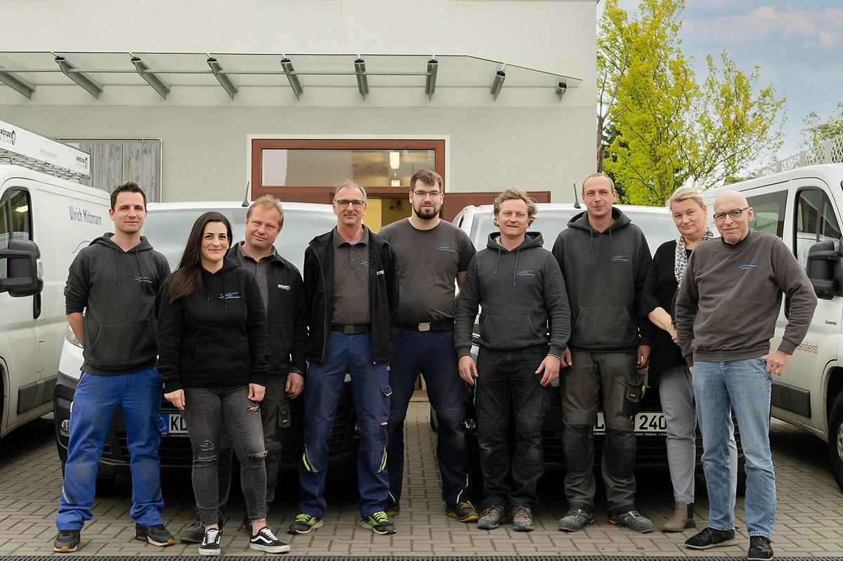 Gruppenfoto von Ulrich Mittmann mit Team in Kleve