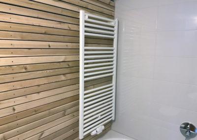 Die Wandgestaltung im sanierten Kellerbad